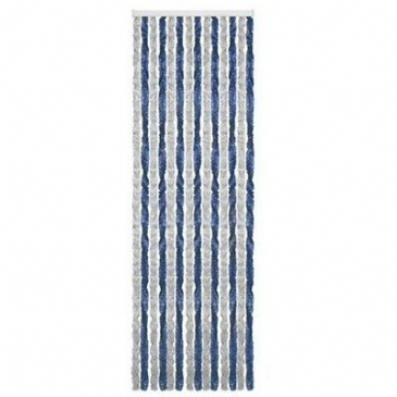 Arisol CHENILLE TYPE Motorhome Caravan Door CURTAIN GREY & BLUE